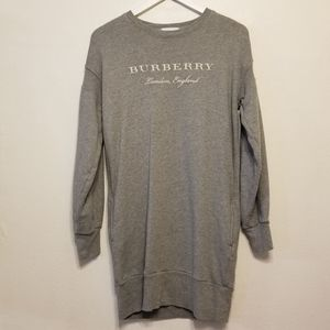 Burberry girl's logo sweatshirt dress with POCKETS